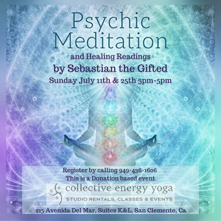 Cancelled-Psychic Healing Meditation and Readings by Sebastian the Gifted