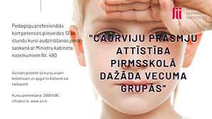 Kursi pirmsskolas pedagogiem - Caurviju prasmju attīstība pirmsskolā dažāda vecuma grupās