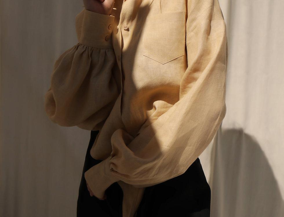 Linen shirt beige