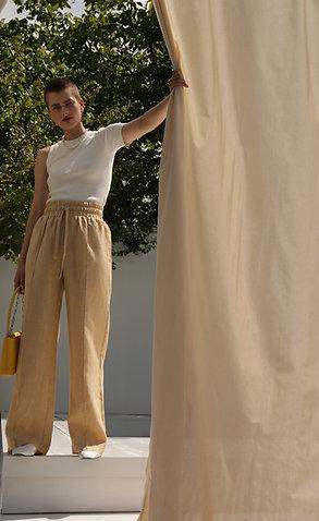 Linen beige pants