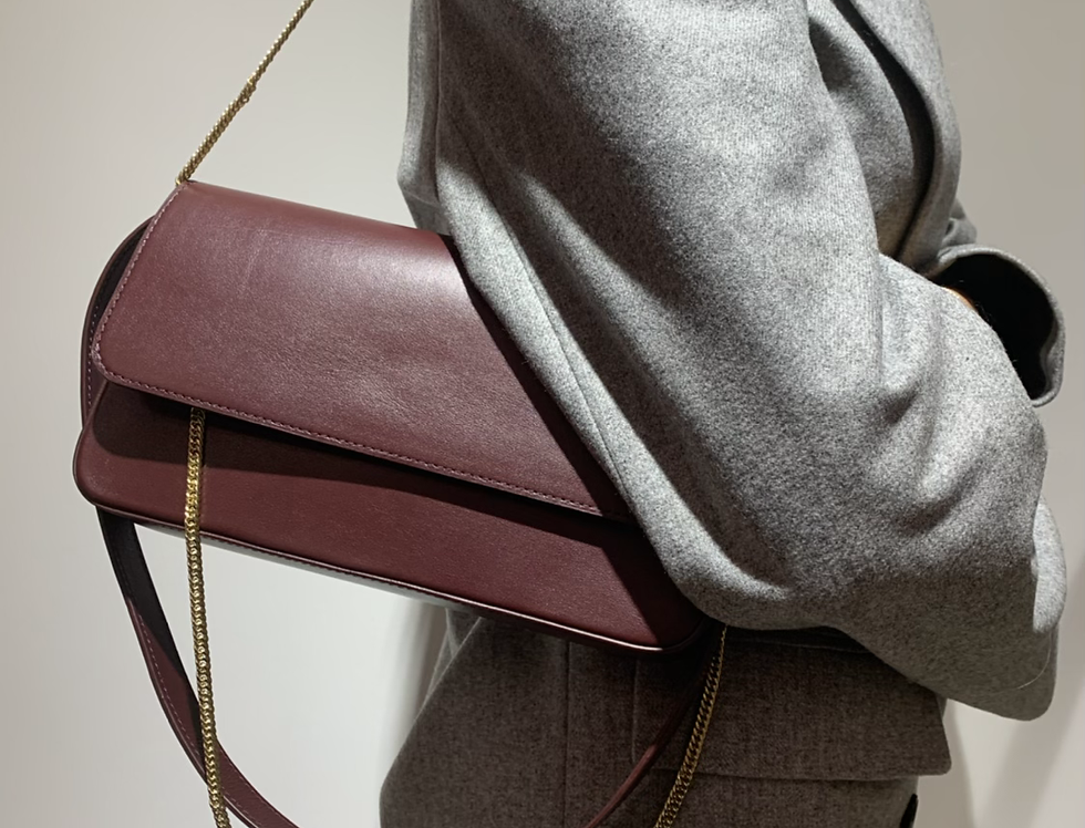 irAro X VIKELE STUDIO burgundy bag