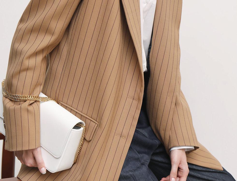 Beige striped jacket