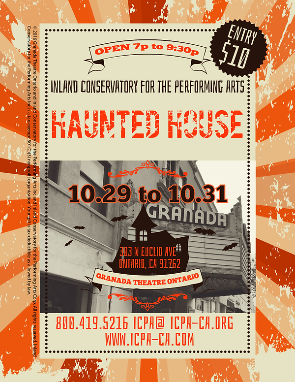 ICPA Haunted House flier
