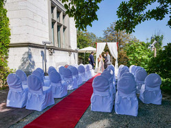 Hochzeitszeremonie Bestuhlung