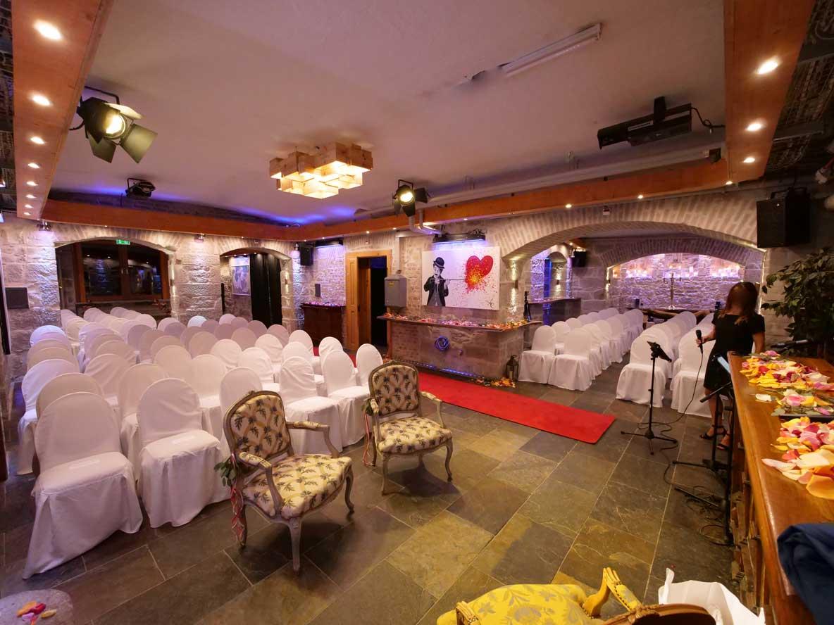 Hochzeitszeremonie Bestuhlung UG