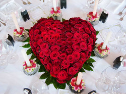 Blumenbukett in Herzform