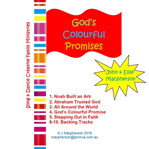 God's Colourful Promises - CD and Insert
