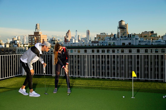 GOLF DIGEST: Rooftop Putting: The Perfect Getaway From City Life