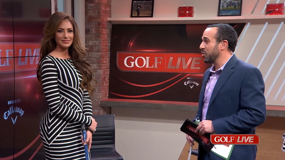 Holly Sonders tackles GOLF LIVE putting challenge