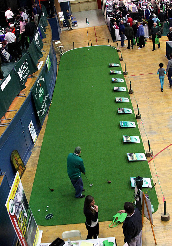 THE JOURNAL NEWS: Home Green Advantage Features Practice Greens at Journal News Golf Show