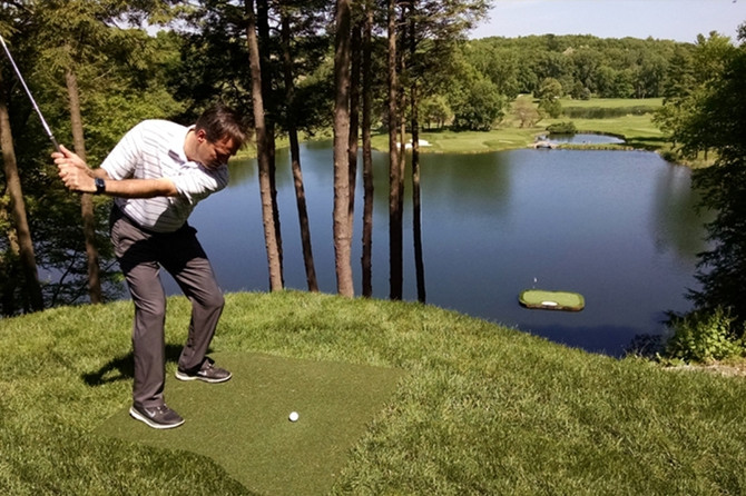 WESTCHESTER MAGAZINE: Floating Green Debuts At Bedford's GlenArbor Golf Club