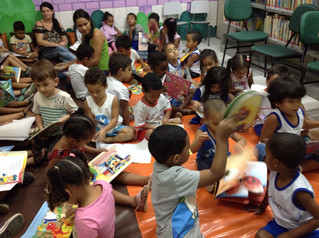 Visita da Escola Municipal em nossa Biblioteca
