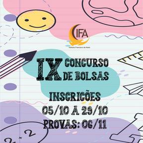 EDITAL IX CONCURSO DE BOLSA DE ESTUDOS 2021