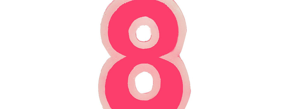 Number Candle Eight