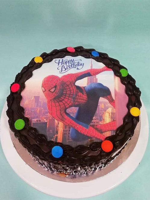 Spider Man Photo Cake
