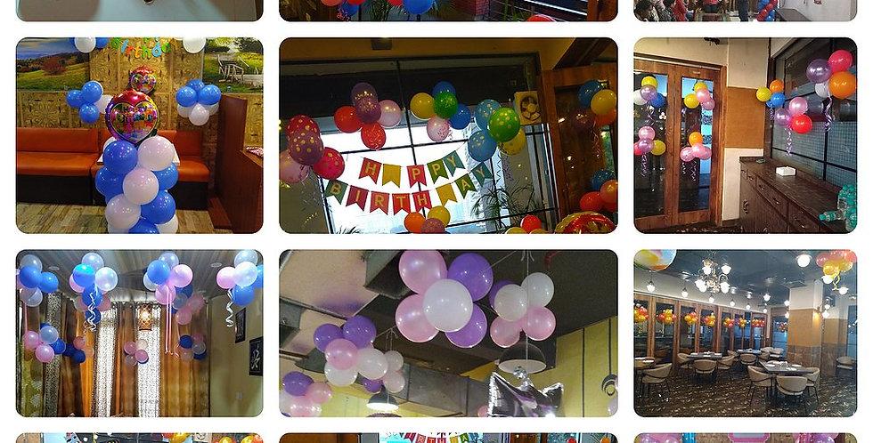 200 Metallic Balloons Decoration