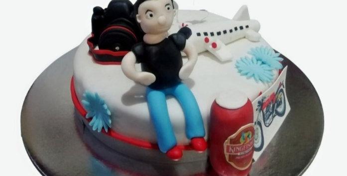 Bachelor's Theme Cake