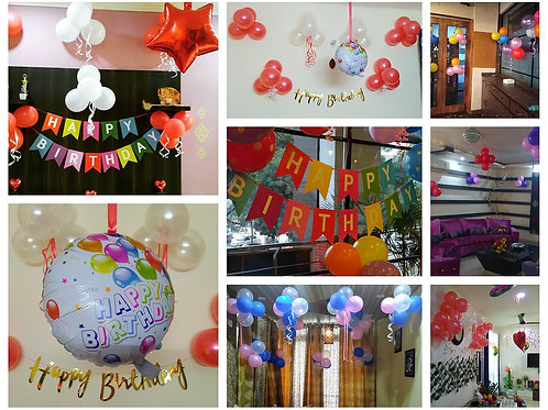 Metallic Balloons Decoration