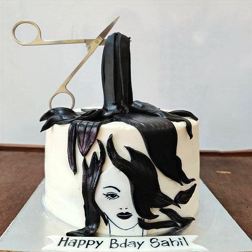 Hair Style Theme Cake