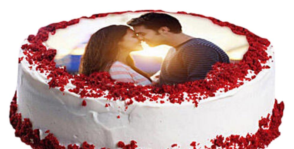 Red Heart Photo Cake
