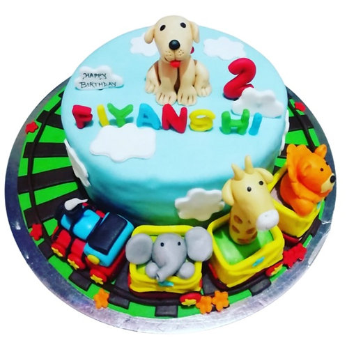 Toy theme cake for child