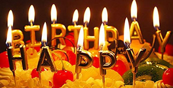 Happy Birthday Letter Candle
