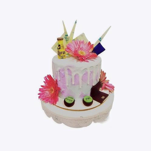 Girly Theme Flower Cake