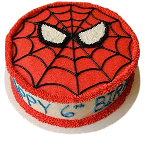 Spider Man Theme Cake