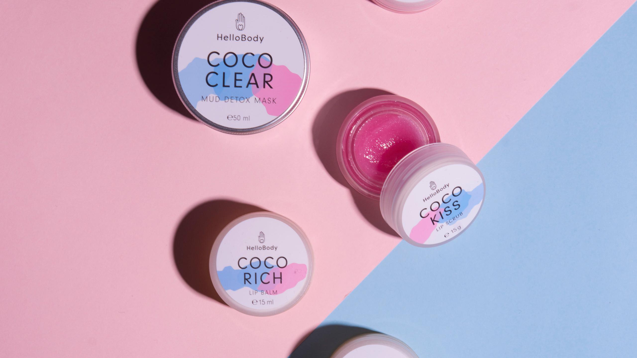 Coco clear: maschera detox Coco Rich & Kiss: trattamento scrub e lip balm per labbra