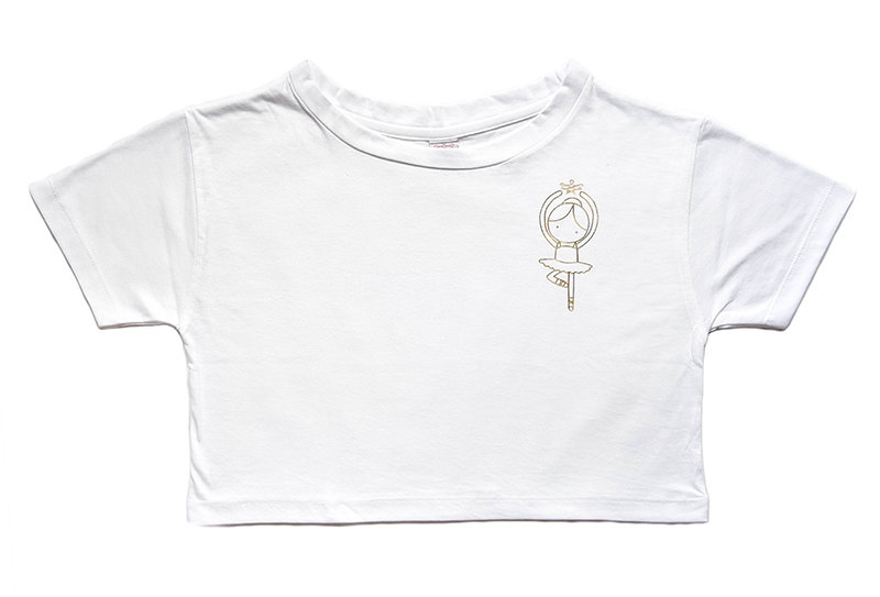 Love Ballerina Crop T-shirt