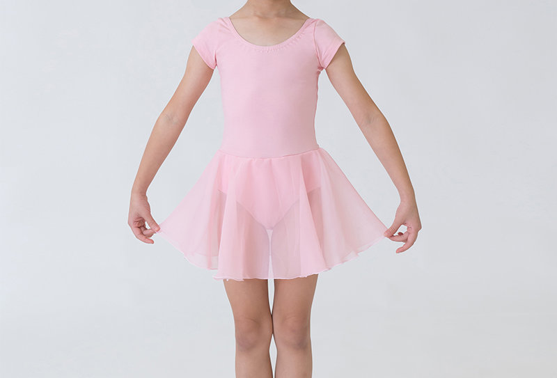Skirted Short-Sleeve Leotard