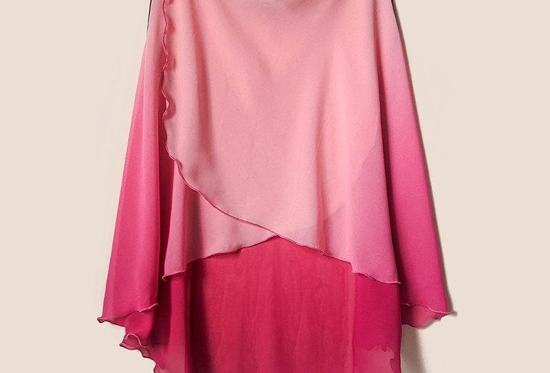 Long Flatter Wrap Skirt (Ombre Pink)