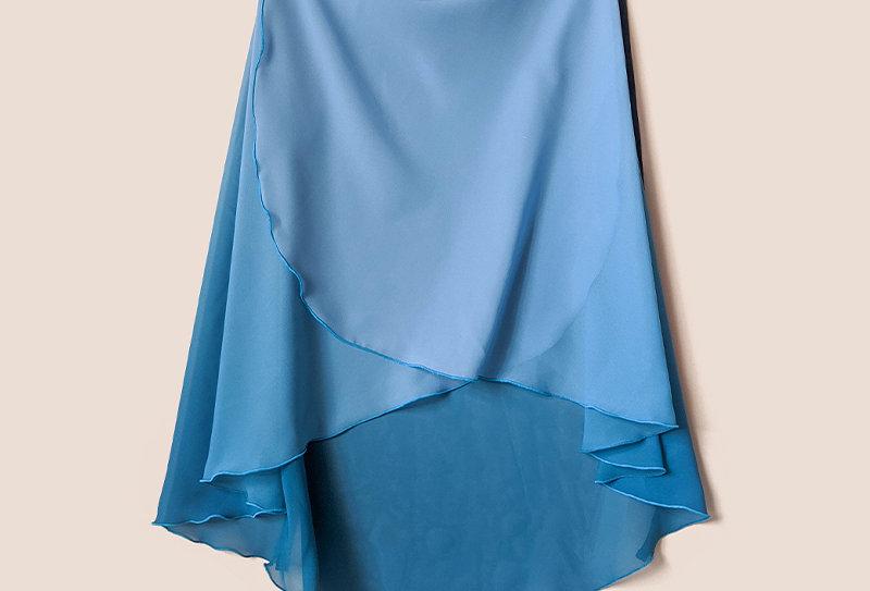 Long Flatter Wrap Skirt  (Ombre Mallard)