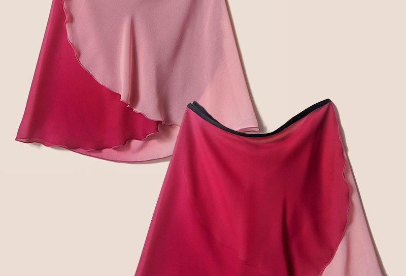Flatter Wrap Skirt (Ombre Pink)