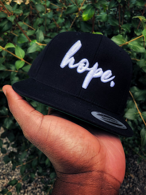 Hope Signature Collection 'The Anchor' Snapback Hat [Black]