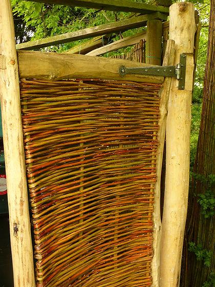 ash gates suffolk, hand made gates, rustic gates, chestnut gates, gates, natural gates, woven worlds