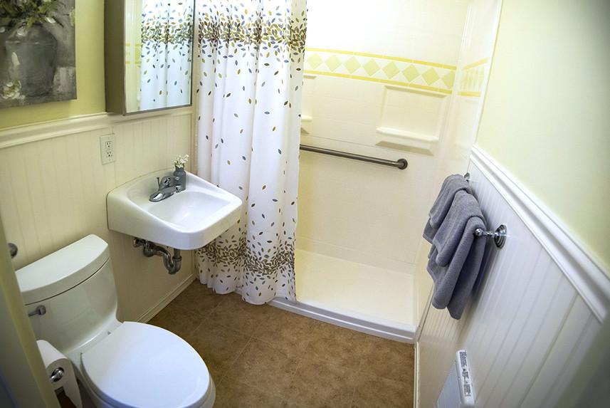 Typical Studio Apartment at Ridge Oak bathroom