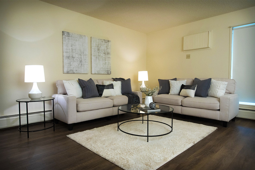 Typical One Bedroom Apartment at Ridge Oak living room