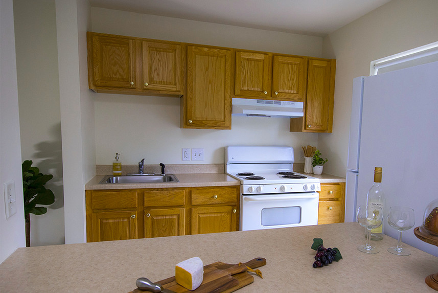 Typical One Bedroom Apartment at Ridge Oak II kitchen