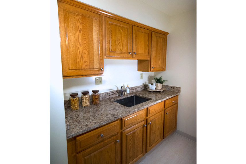 Typical One Bedroom Apartment at Ridge Oak kitchen