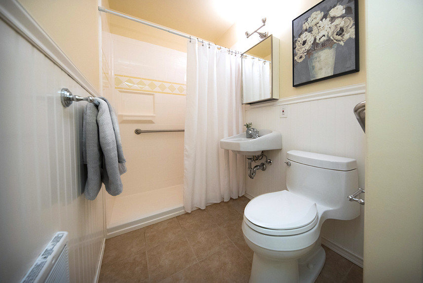 Typical One Bedroom Apartment at Ridge Oak bathroom