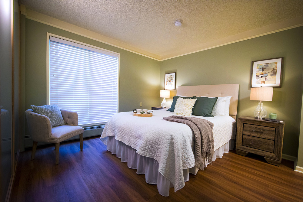 Typical Studio Apartment at Ridge Oak bedroom