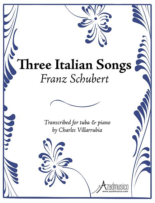Schubert: Three Italian Songs (Sheetmusic)