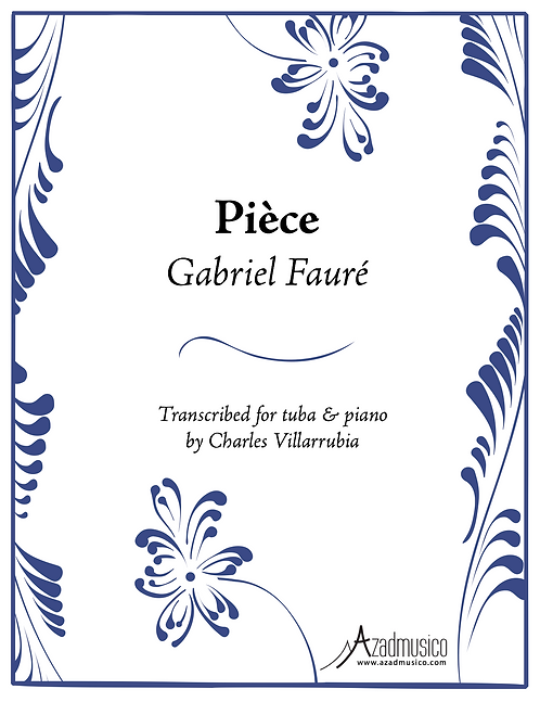 Faure: Piece (Sheetmusic)