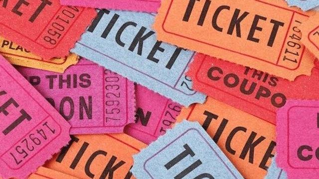 Poker Run Raffle Ticket