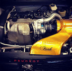 Funk Motorsport Gold Reflective Heat Tape used to manage intake temperatures on VLN SP2T Championship Winning Peugeot 308