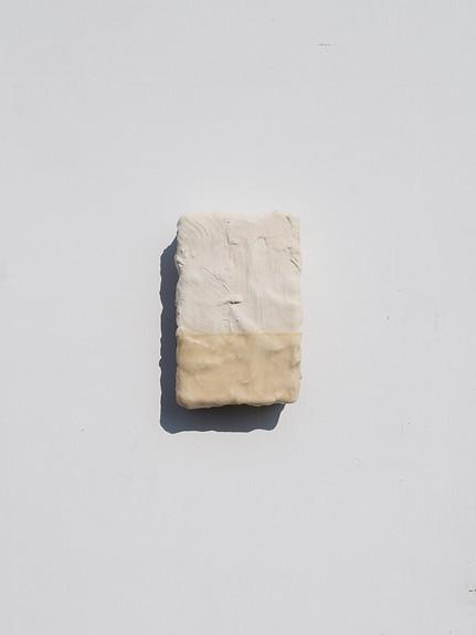 Camerini d'alabastro 2018 Mineral pigments, tempera, Strasbourg turpentine, gesso, & linen on panel  24.9 x 15.9x 6 cm