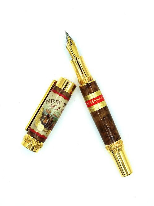 Cigar Band Pen with Cigar Box-Fountain Pen