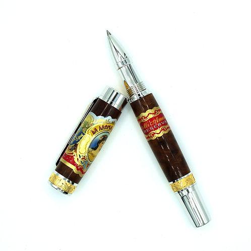 Cigar Band Pen with Cigar Box-Rollerball Pen