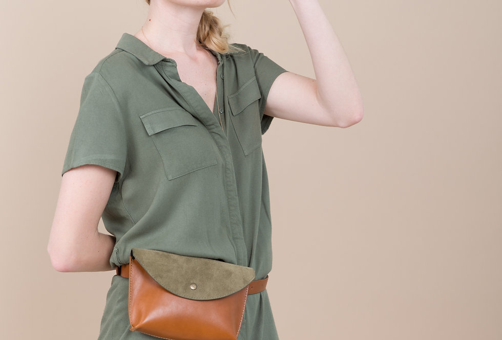 CARAMEL LEATHER WAIST BAG